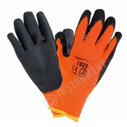 rukavice pracovné akrylové latexové zimné lahčené