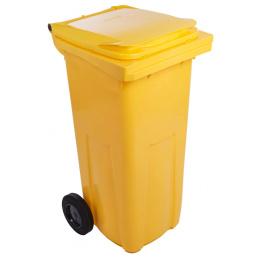 popolnica 120l plastová žltá / nádoba na odpad