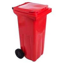 popolnica 120l plastová červená / nádoba na odpad