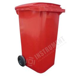 popolnica 240l plastová červená / nádoba na odpad