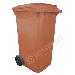 popolnica 240l plastová hnedá / nádoba na odpad