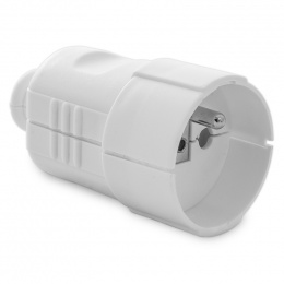 zásuvka plastová biela 250 V, 16 A, 8224