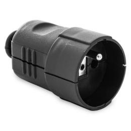 zásuvka plastová čierna 250 V, 16 A, 8253