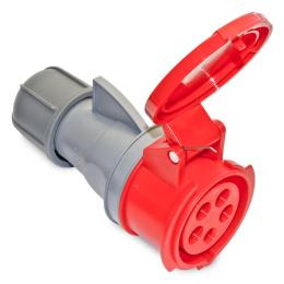 zásuvka priemyselná 400 V, 32 A, 4 P polohová IP44 23302 ISN3243