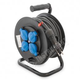 kábel predlžovací 4 x 230 V 25m na bubne IP44