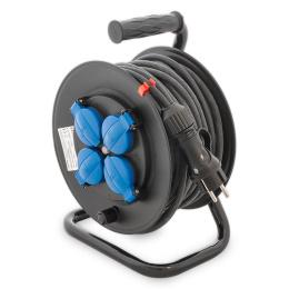 kábel predlžovací 4 x 230 V 40m na bubne IP44