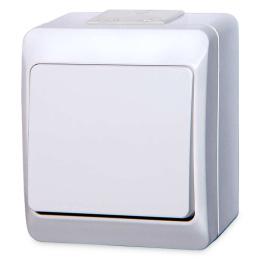 vypínač na povrch biely 6 striedavý 250 V 5331-02 / prepínač