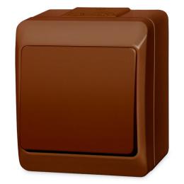 vypínač na povrch hnedý 6 striedavý 250 V 5331-06 / prepínač