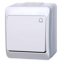 vypínač na povrch biely 1/0 zvonček 250 V 5337-02