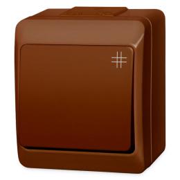 vypínač na povrch hnedý 7 krížový 250 V 5338-06