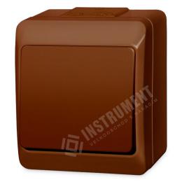 vypínač na povrch hnedý 2 dvojpólový 250 V 5333-06