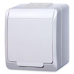 zásuvka na povrch biela 250 V 5321-02