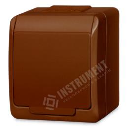 zásuvka na povrch hnedá 250 V 5321-06