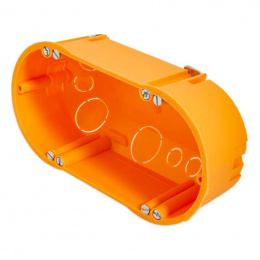 krabica prístrojová do dutých stien; ø68 x 47 mm E118 / dvojkrabica