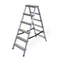 rebrík AL 2 x 6 obojstranný / schodíky