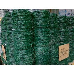Drôt ostnatý PVC 2,5/2,0mm 100m rolka