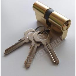 vložka cylindrická YALE 500 27+27mm 3 kľúčová mosadz