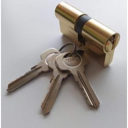 vložka cylindrická YALE 500 35+35mm 3 kľúčová mosadz