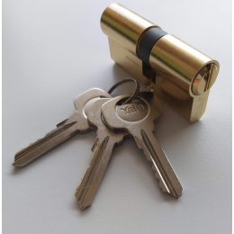 vložka cylindrická YALE 500 45+45mm 3 kľúčová mosadz