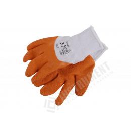 rukavice pracovné 7011 latexové bavlnené