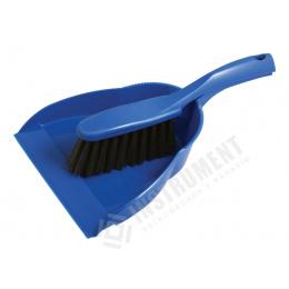 metlička malá ručná PVC modrá+lopatka ECONOMY