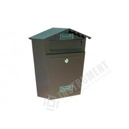 schránka poštová hnedá 29x36x10,5cm