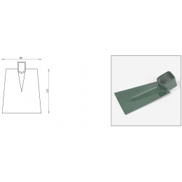 motyka plochá - šírka 80mm bez násady