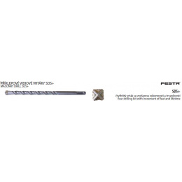 vrták vidiový  SDS+ 22x600mm 4brity FESTA