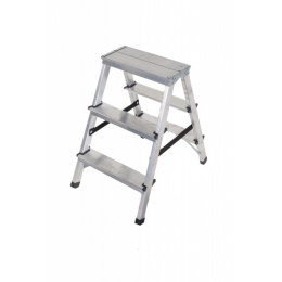 rebrík AL 2 x 3 obojstranný / schodíky