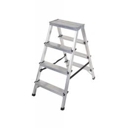 rebrík AL 2 x 4 obojstranný / schodíky