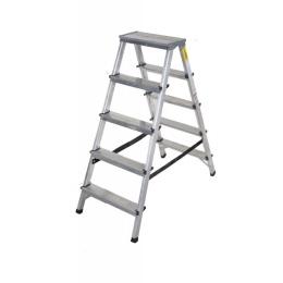 rebrík AL 2 x 5 obojstranný / schodíky