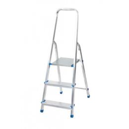 rebrík AL 3 jednostranný s madlom / schodíky 1 x 3