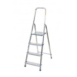 rebrík AL 4 jednostranný s madlom / schodíky 1 x 4