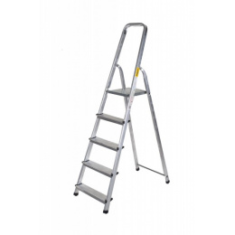 rebrík AL 5 jednostranný s madlom / schodíky 1 x 5
