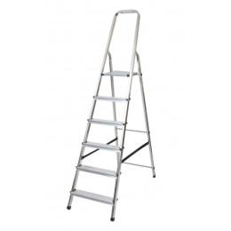 rebrík AL 6 jednostranný s madlom / schodíky 1 x 6