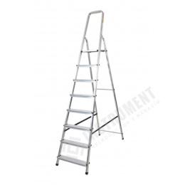 rebrík AL 8 jednostranný s madlom / schodíky 1 x 8