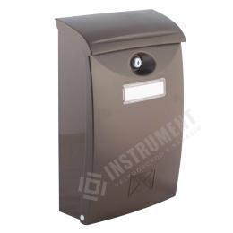 schránka poštová PVC hnedá 24x10,5x34,5cm