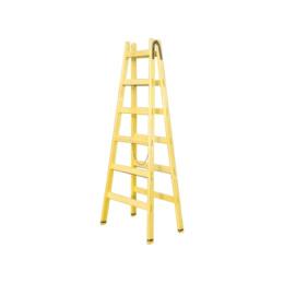rebrík drevený dvojitý 2 x 10 priečkový 313cm