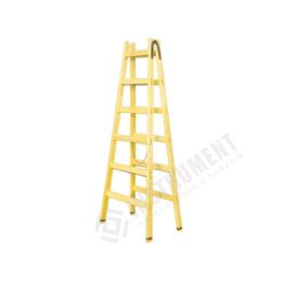 rebrík drevený dvojitý 12 priečkový 373cm