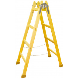 rebrík drevený maliarsky 11 priečkový 372cm