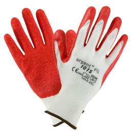 rukavice pracovné Polyester-červený latex veľ.9