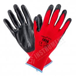 rukavice pracovné Polyester-Nitril veľ.10