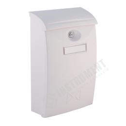 schránka poštová PVC biela 24x10,5x34,5cm
