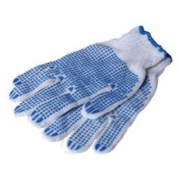 rukavice pracovné bavlnené s PVC terčíkmi PLOVER