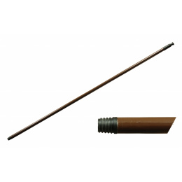 násada zmetáková alu 130cm, hrubý závit, hnedá